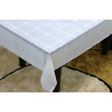 Printed pvc lace tablecloth by roll glitter